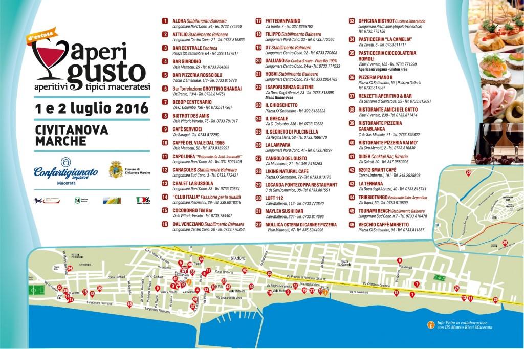 Aperigusto Estate 2016 mappa