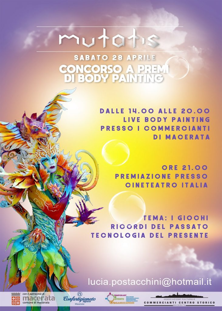 Mutatis concorso body painting