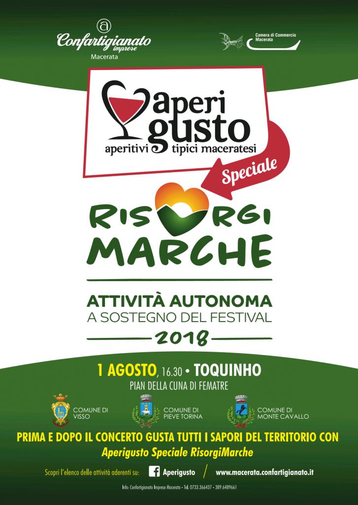 Aperigusto Speciale RisorgiMarche Toquinho