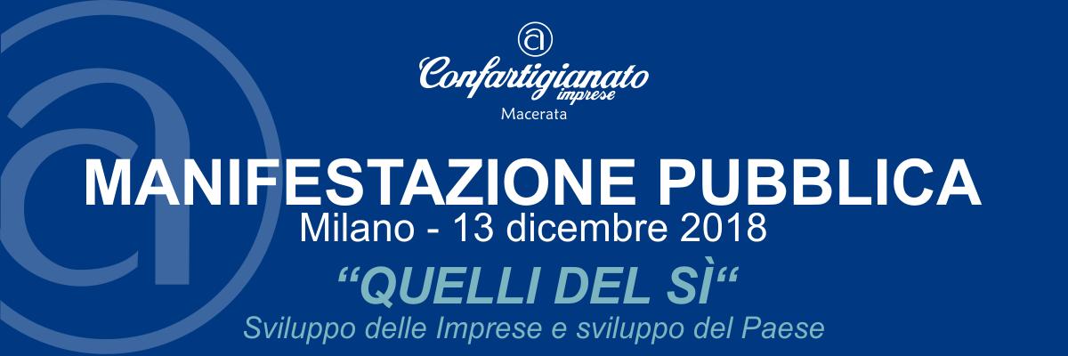 manifestazione pubblica Milano 2018