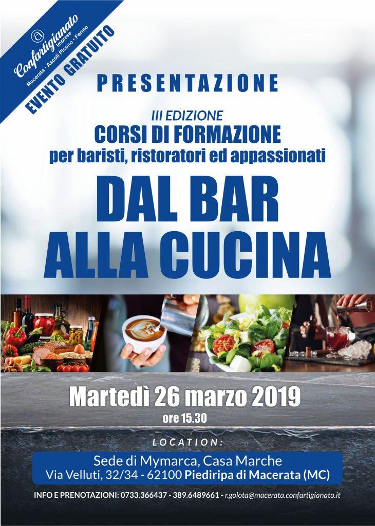 presentazione Dal Bar alla cucina 2019