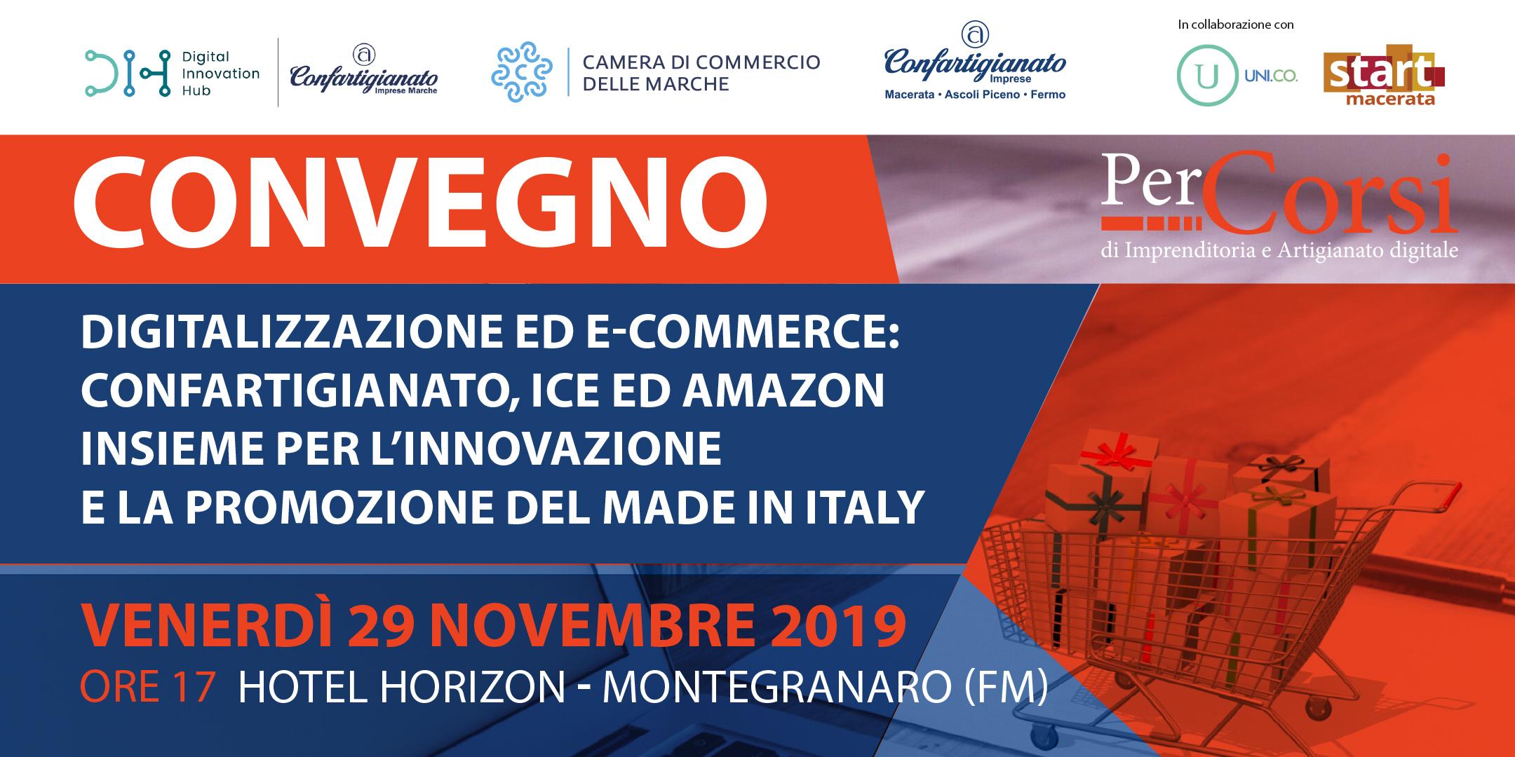 Convegno digitalizzazione 29 novembre ICE Amazon